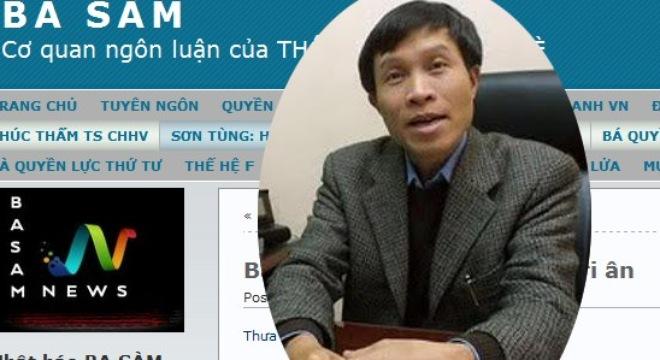 Anh Ba Sàm Nguyễn Hữu Vinh và giao diện blog BA SÀM